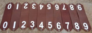 Leather Cattle Neck Tags