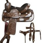 13 Inch Double T Youth Pony Show Saddle Set