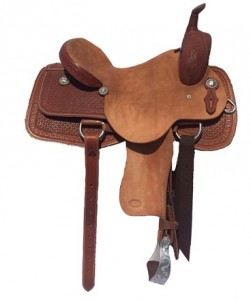 Cutting Saddle with Waffle Tooling and Border
